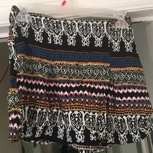 Multicolored Patterned Mini Skirt